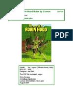 Legend of Robin Hood Rules by Liumas 2007-08