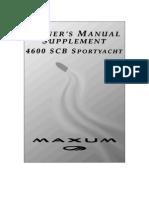Maxum 4600 Supplement