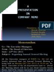 Memo Presentation