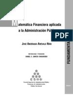 AREVALO Jose a - a Financier A Aplicada a La Admin is Trac Ion Publica