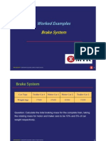Worked Examples 2010 - Brake System