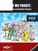 LEST WE FORGET-The Faces of Impunity in Kenya
