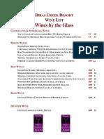 biras creek wine list