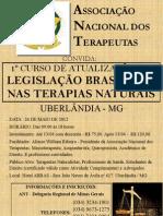 LEGISLAÇÃO NAS TERAPIAS NATURAIS - CURSO DE ATUALIZAÇÃO EM UBERLÃNDIA / MG
