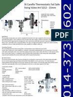 MX Careflo Thermostatic Fail Safe Mixing Valve Art 5212 - 15mm