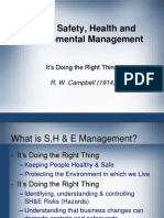What is Safety, Health and Environmental Management - Final