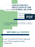 E. Humphrey - Roadmap for EPA Implementation in the Manufacturing Sector [Bdos MFA&FT]