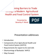B. Wood - Overcoming Barriers to Trade Through a Modern Agricultural Health and Food Control System [Bdos AHFCS]