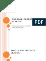 Nursing Leadership Lecture