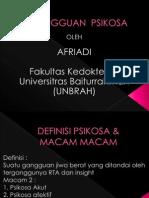 GANGGUAN PSIKOSA >>FAKULTAS KEDOKTERAN UNIVERSITAS BAITURRAHMAH(UNBRAH)