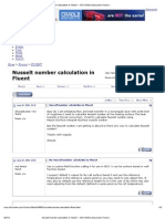Nusselt Number Calculation in Fluent -- CFD Online Discussion Forums