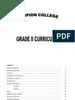 CC G8 Curriculum