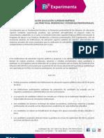 Becas Experimenta 2012 - Programa de Apoyo a las Prácticas Profesionales