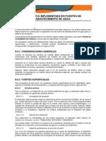 Normativa Implement Ada en Fuentes de Abastecimiento de Agua.