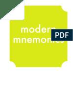 Modern Mnemonics