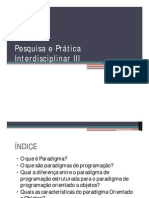Pesquisa e Prática Interdisciplinar III