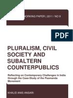 PWP No 9 Pluralism, Civil Society and Subaltern Counterpublics Online