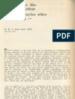 SNOEK. 1967. Êles também São da Nossa Estirpe — Considerações sôbre a Homofilia