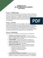 Sistemas de Distribucion Electrica - Norma Ec 010