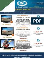 Listado de Precios Marzo 2012 - Soneview