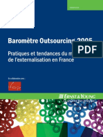 Baromètre outsourcing 2005 france