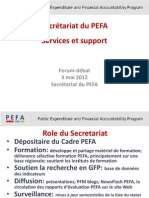 PEFA Session2 Secretariat Services FRA