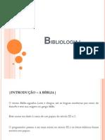 Bibliologia I (aula 1)