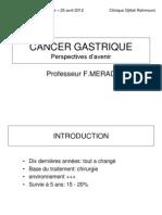 1 - Cancer Gastrique - Pr Merad