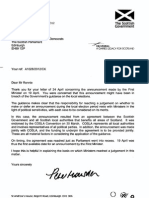Willie Rennie MSP - Response From Permanent Secretary - 2 May 2012