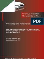Stratford Monograph_Equine Recurrent Laryngeal Neuropathy