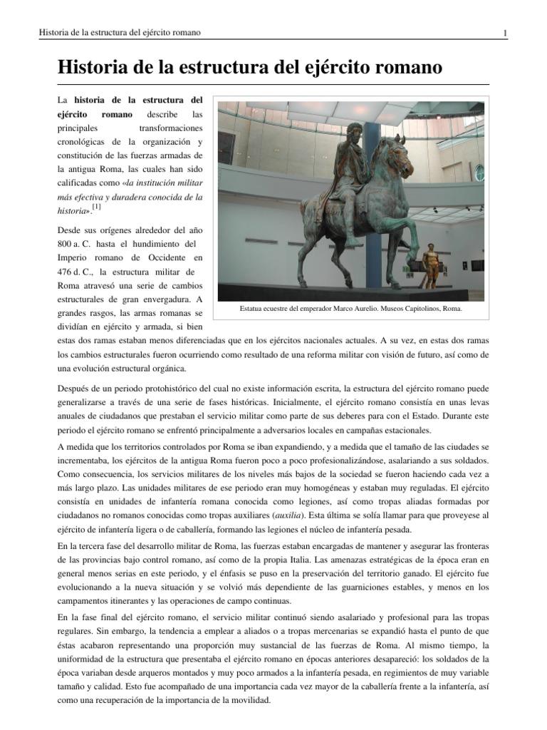 Estructura ejercito Romano