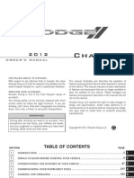 2012 Dodge Charger SRT Owners Manual 2nd