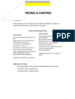 Costing vs Pricing