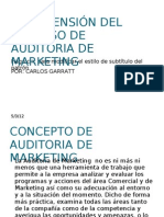 COMPRENSIÓN DEL PROCESO DE  AUDITORIA DE MARKETING