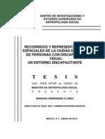 Recorridos y representaciones espaciales de la ciudad de México de personas con discapacidad visual