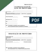 SOLICITAÇÃO  DE  PRONTUÁRIO(1)