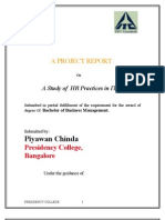 A Project Report on Itc_hr