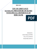A Study of Grievance Handling Procedure of Banks With Special Reference of Syndicate Bank