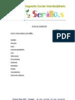 Ficha de Admision - Centro Semillas