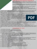 Formateo y Instalacion Del Nuevo Sistema Operativo
