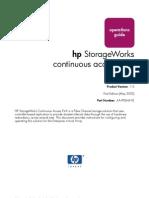 HP StorageWorks Continuous Access EVA - Guía de Operación
