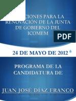 Programa electoral de la candidatura de Díaz Franco