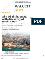 Gulfnews _ Abu Dhabi Boomed With Discovery of Fresh Water
