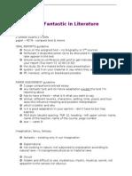 The Fantastic in Literature - Exam 1