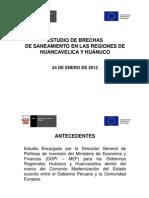 Brechas de to en Huancavelica y Huanuco