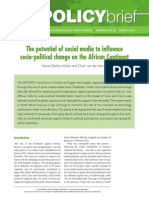 No 46. the Potential of Social Media to Influence Socio Political Change on the African Continent