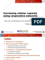 Increasing Cellular Capacity Using Cooperative Networks