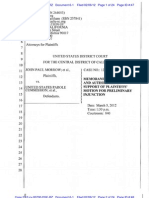Memorandum of Points and Authorities in Support of Plaintiffs' Motion for Preliminary Injunction