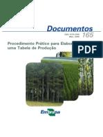 tabelas de produção