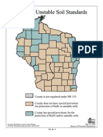 Shoreland Bluffs and Unstable Soil Standards by County in Wisconsin